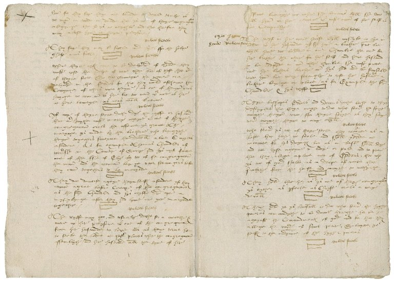 More, Sir William. The [deposiciouns] of Thomas Chaundeler of Wonershe clothier and Robert Sterte of Dunsfolk Clarke made vnto me Willi[am] More Esquire ye 28 of May 1561 tochynge theyre knowledge of certayne Sectaryes and of theyre Doctrynes, practises and wyked Deuyces.