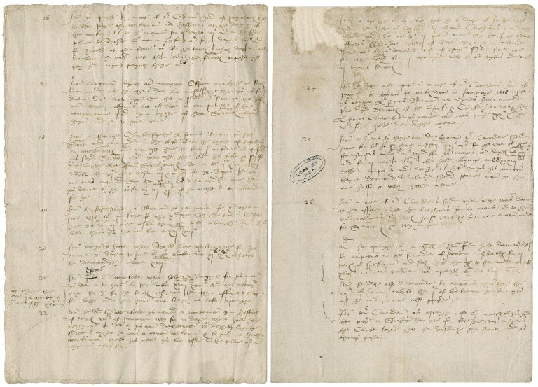 [More, Sir William. A note whye the vnder officers of thoffice of Tentes & Revels should haue no Alowans for Servauntes as theye demaunde to haue. 4to February anno 1560.