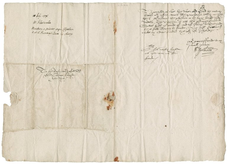 Fleetwood, William. Letter signed. To Sir William More. London.