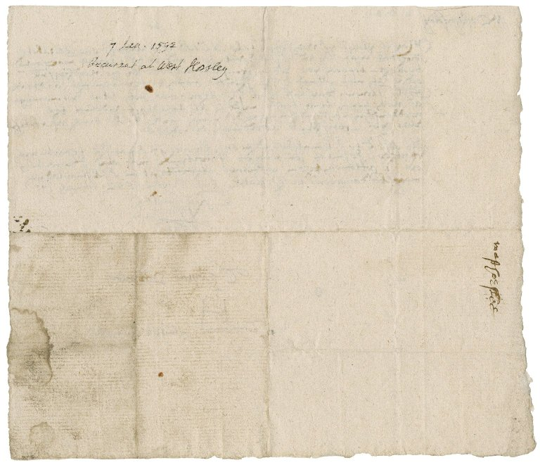 Josua, Richard. Certificate. To commissioners for recusants of Surrey, West Horsley.