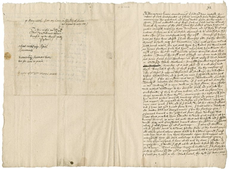 "More, Sir William. Letter unsigned. To Sir William More. ""My house in the Blackfriers."""