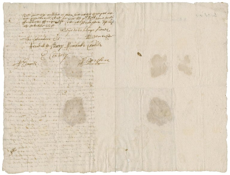 Great Britain. Privy Council. Circular letter signed by eight members. To the Lords Lieutenants of counties. Hampton Court.