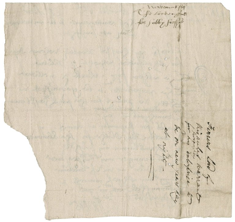 Ferrers, George. Warrant for hobby horses and other articles. To Sir Thomas Cawarden.