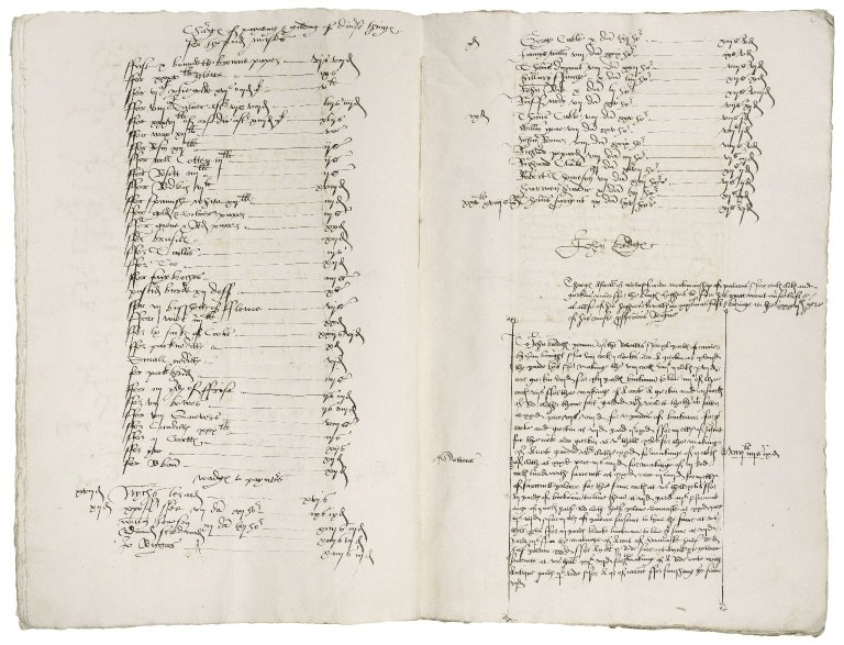 Great Britain. Office of the revels. The Kinges Revelles. Anno xxxijo Regis Henrici viij. A Comaundement gevyn by the kinges grace vnto ser Anthony browne And so vnto me John bridges in gracious pallais of Westminster the xxxDaye of Decembre to prepayre ... In A Redynesse sertayne garmentes ... for A pley ... before the king on newe yeres Daye at ... Grenwich.