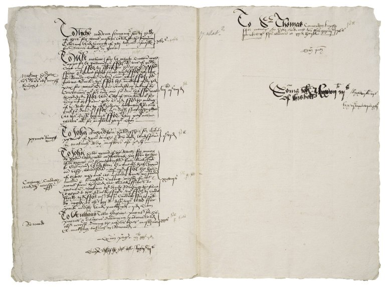 Great Britain. Office of the revels. Revelles At Shrovetyde Anno Regni Regis Edwardi Sexti ij. Charges Aswell for the translating of Sondry masking gar[ments] As Also making of iiij newe maskes ... 1547 [sic, i.e. 1548/49].