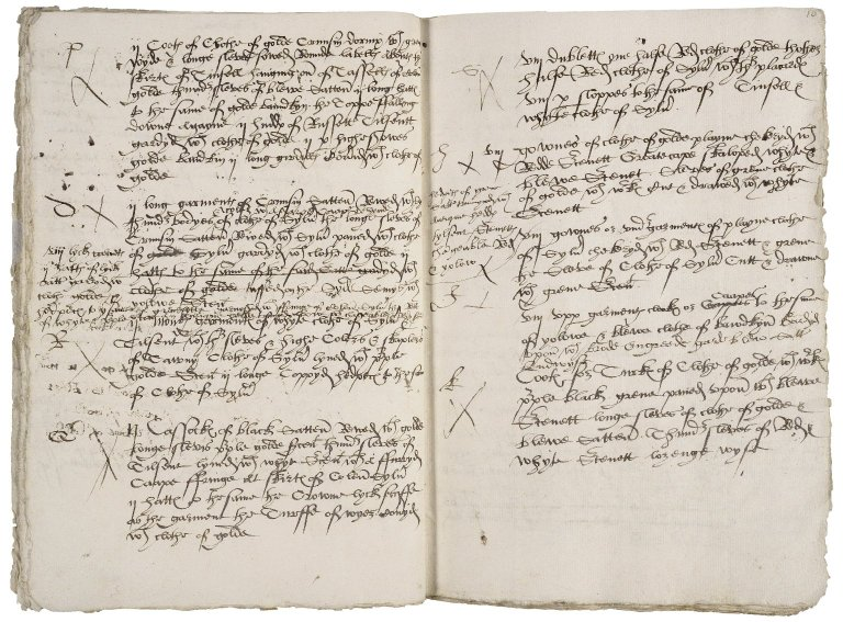 Great Britain. Office of the revels. Revelles [on fol. 15r:] delivered bredges Anno xxxvij Regno Regis henrici viij.