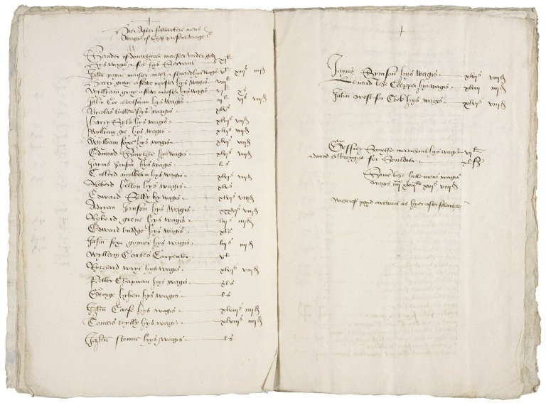 Darcy, Sir Thomas. The Cargis of a good schype Callyed the Jayms of Syr Thomas Darssys knyght for a Viage be the grace of god to be mayd yn ysland begonne the fyrst day of dessember anno 1545 mayster... Sander of dynwyche marchant Jeffrey Smythe.