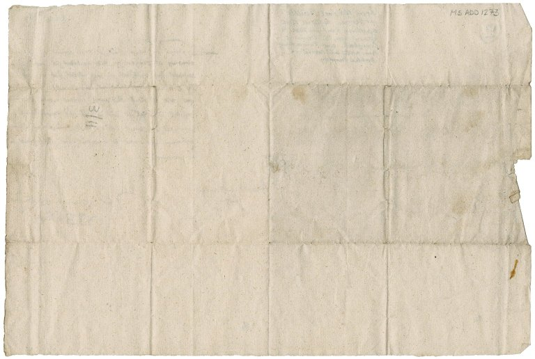 Letter from General William Baillie to David Rattray of Craighall, Scone
