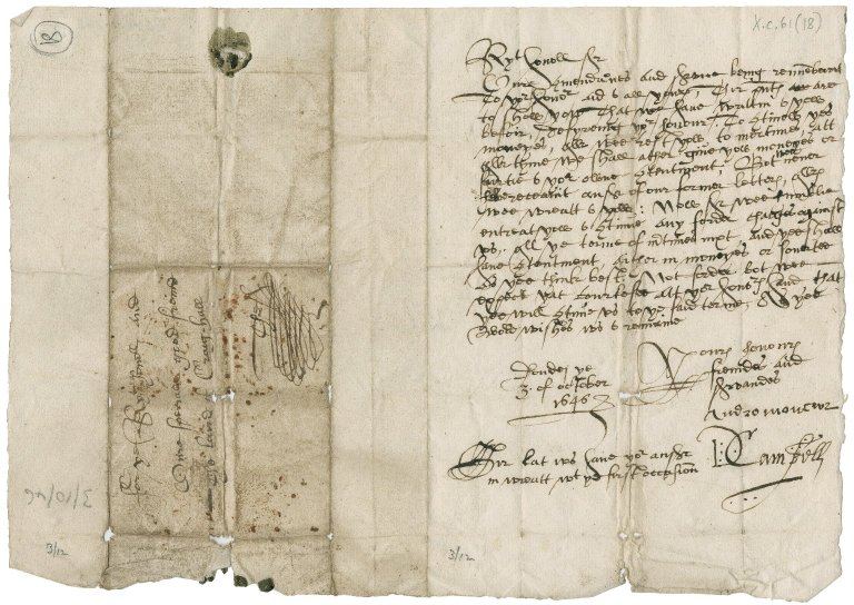 Letter from Andrew Moncur and D. Campbell to David Rattray of Craighall, Dundee
