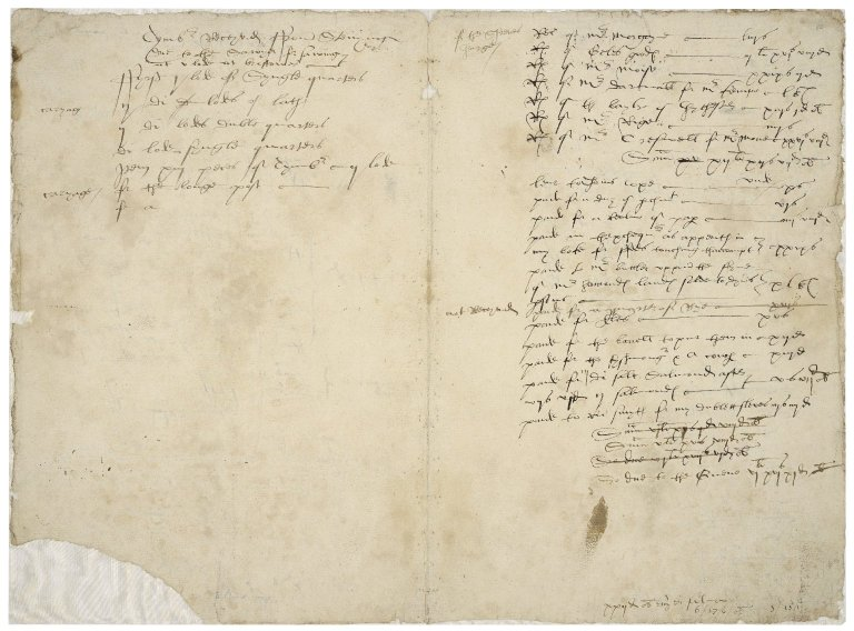 More, Sir William. Account book,