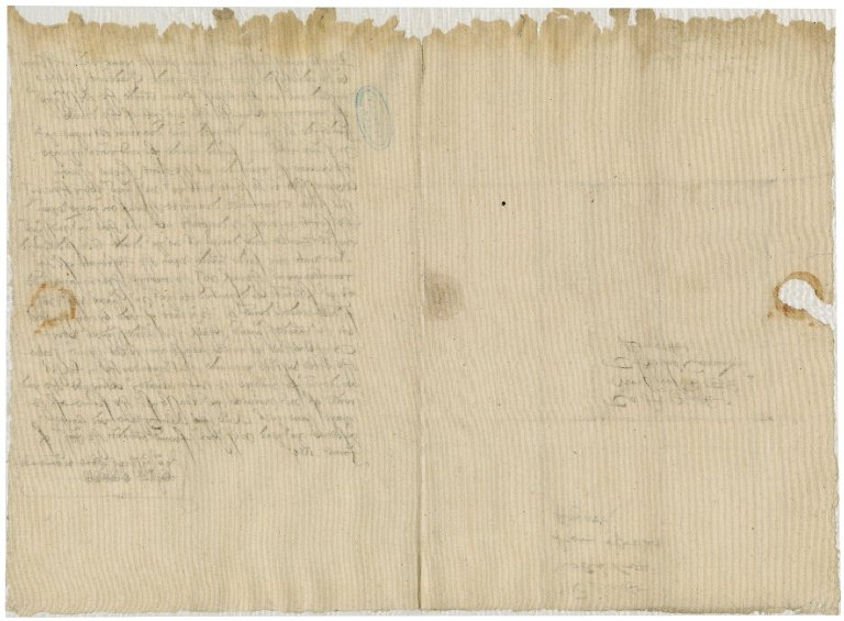 Blackwell, William. Letter, signed. To Sir Thomas Cawarden. London.