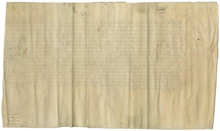 Great Britain. Exchequer. Draft of warrant to pay Sir Thomas Cawarden and others.
