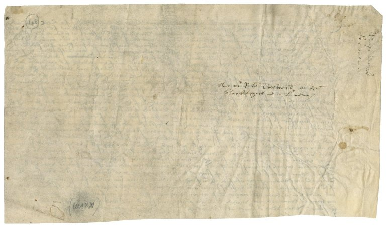 Great Britain. Exchequer. Draft of a warrant for payment of Sir Thomas Cawarden and others.
