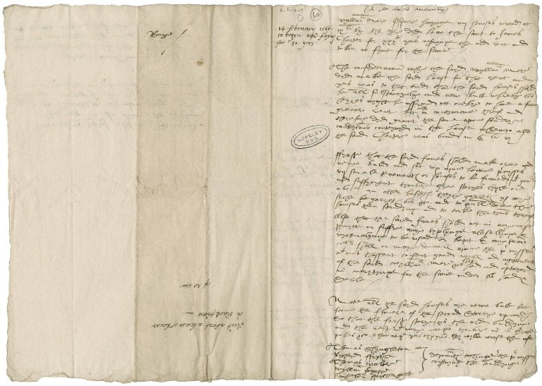 More, Sir William. Notes about the lease of eight houses in Blackfriars to James Charter.