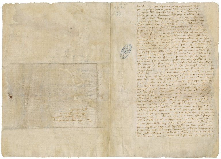 More, Sir William, 1520-1600. Autograph letter signed. To William Herbert, Earl of Pembroke.