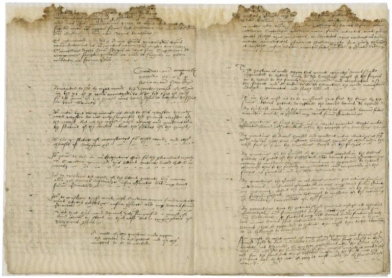 More, Sir William. Memoranda related to the Blackfriars properties.