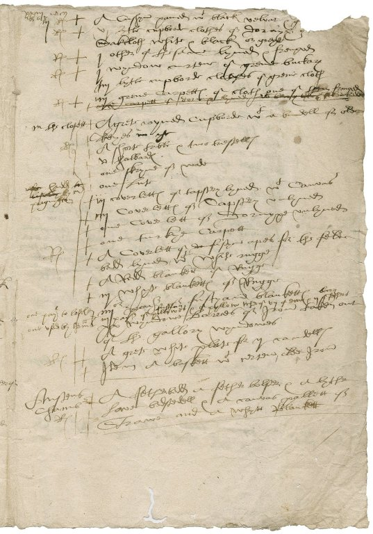 Austen, John. Black ffryers London. xviij die decembris Anno Domini 1567 ... An Inventory taken of the goodes there remayning to the vse of Mr More esquyer. London.