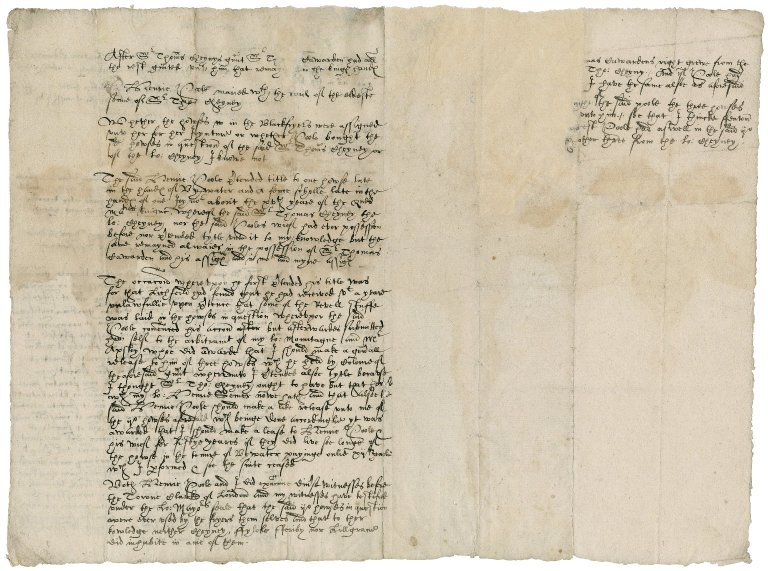 More, Sir William. Summary of facts concerning property in litigation between More and Henry Poole.