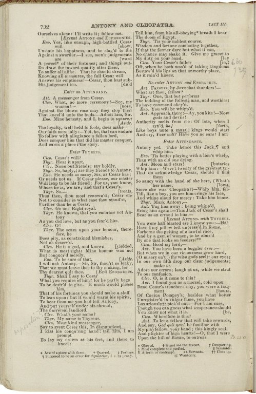 The dramatic works of William Shakspeare : from the text of Johnson, Stevens, and Reed : with glossarial notes, his life, and a critique on his genius & writings / by Nicholas Rowe, Esq.