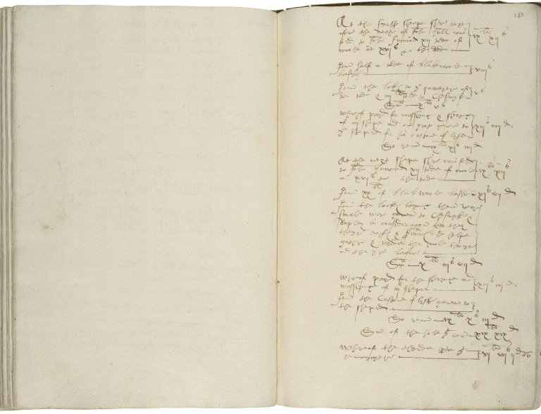 More, Sir William. Account book, continued after More's death by his family until about 1650.