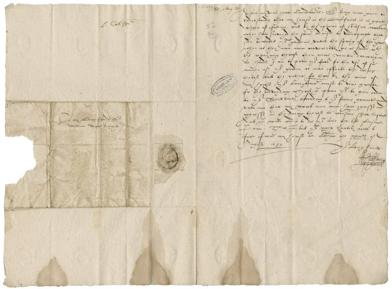 "Cobham, William Brooke, 10th Baron. Letter signed. To Sir William More. ""From my house at Cobham""."