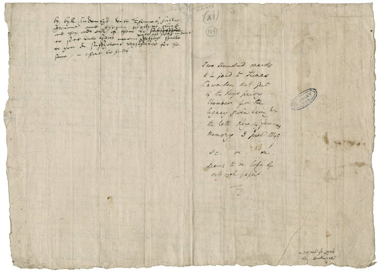 Great Britain. Office of the tents. Drafts of warrants by Sir Thomas Cawarden.