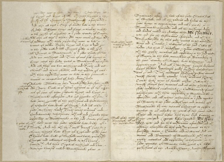 Great Britain. Sovereigns, etc., (Edward VI). Translation of letters patent granting to the mayor, corporation and citizens of London the Manor of Southwark. The original grant was dated April 23, 1550.