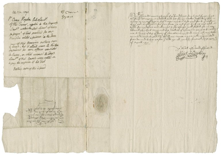 Hopton, Sir Owen. Letter. To Sir William More and others.