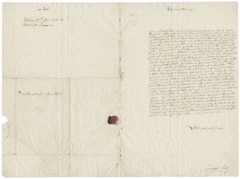 More, Sir George. Petition to James I, signed by More.