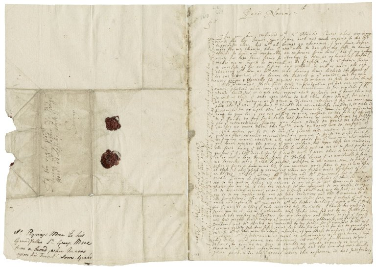 More, Sir Poynings. Letter. To Sir George More. Paris.