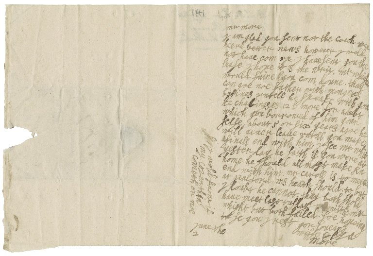 More, Elizabeth (Fytch), Lady. Letter. To Sir Poynings More.