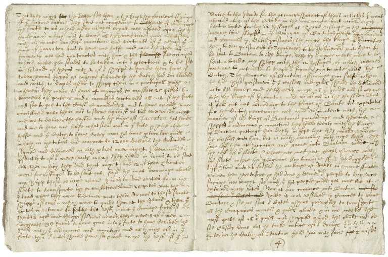 Dale, Sir Thomas. Letter. To Sir William Throckmorton. From Jacatra in Java maior.