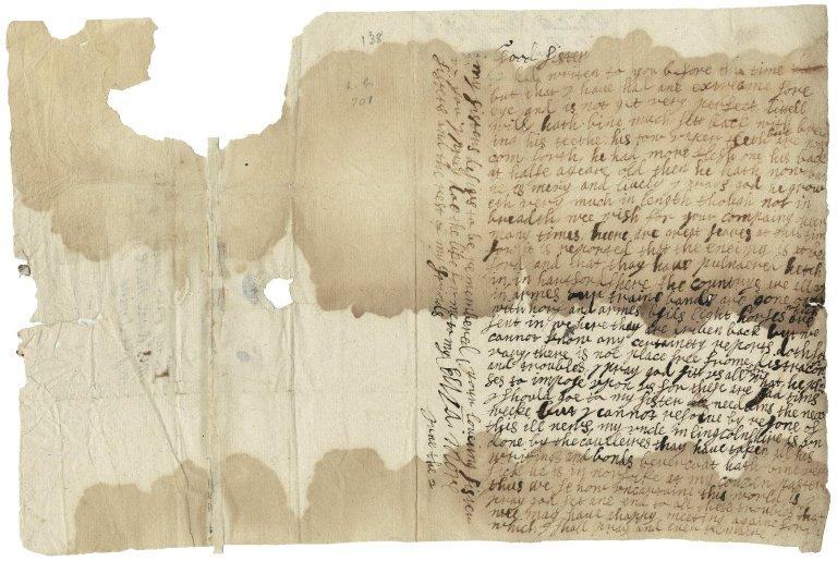 More, Elizabeth (Fytch), Lady Letter. To Mrs. Anne More.
