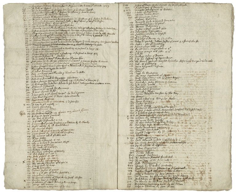 More, Sir William, bart. , Catalogue of More's library, taken January 10, 1673/74.
