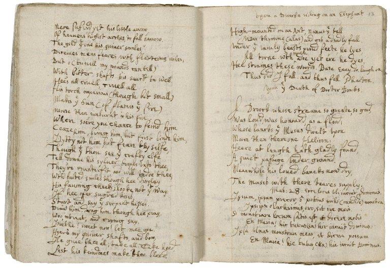 [Crashaw, Richard]. Poems. Copy ca. 1635.