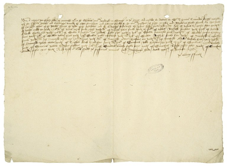 Great Britain. Office of the revels. Warrant to the Great Wardrobe.