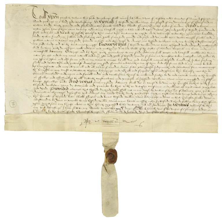 More, Sir William. Warrant of attorney signed. To Richard Dobbs.