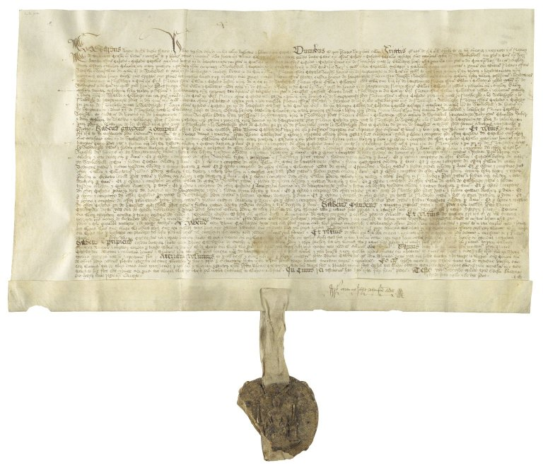 Great Britain. Sovereigns, etc., (Edward VI). Letters patent granting to Sir Thomas Cawarden for life certain offices. Westminster.