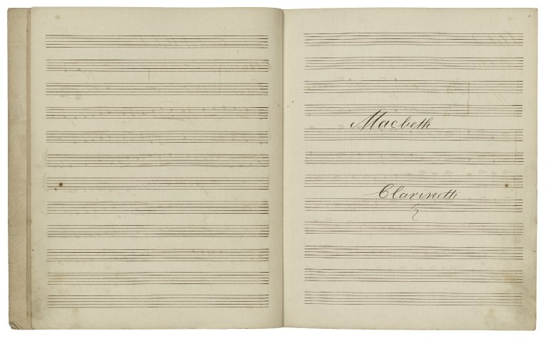 Incidental music for Macbeth [manuscript].