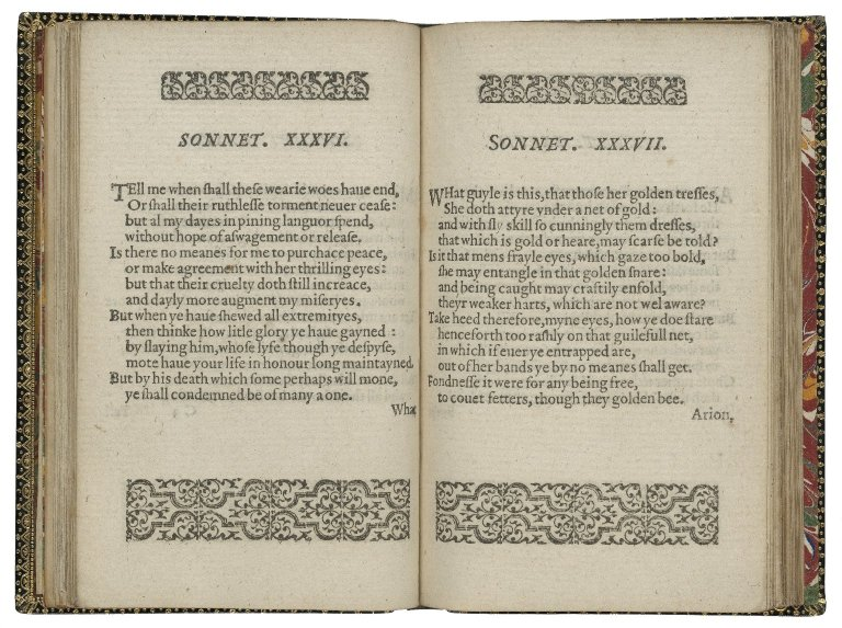 Amoretti and Epithalamion. Written not long since by Edmunde Spenser.