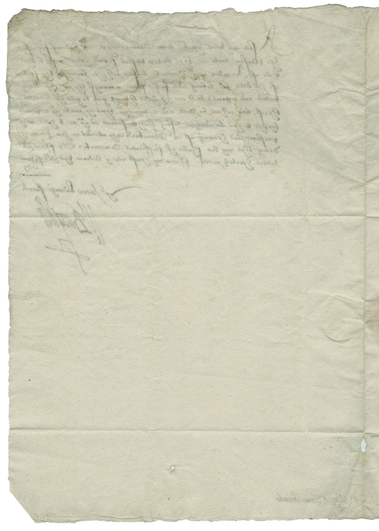 Letter signed from William Cecil, Baron Burghley, to Sir Roger Townshend