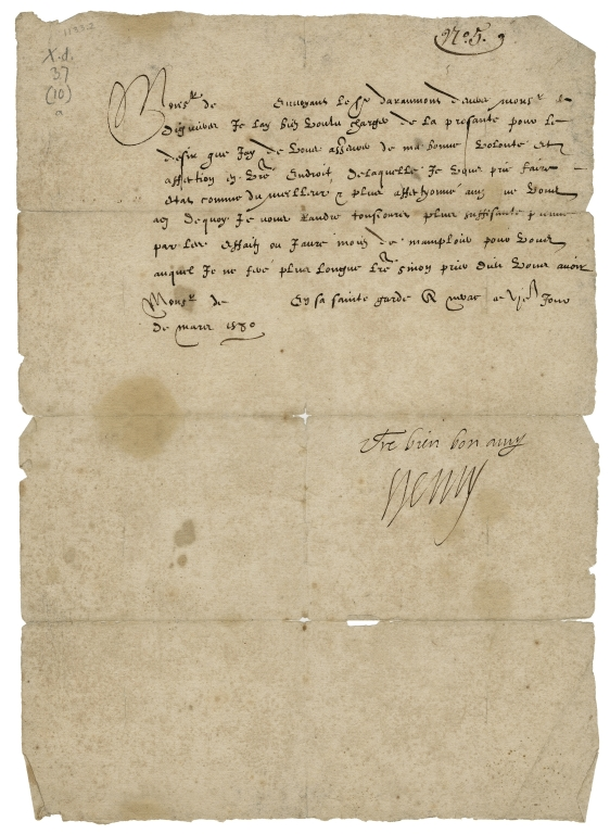 Warrants from the Kings of France