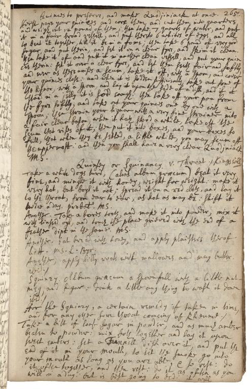 A book of choice receipts collected from several famous authors a great part in monasteries and often experimented as to a great number of them [manuscript].