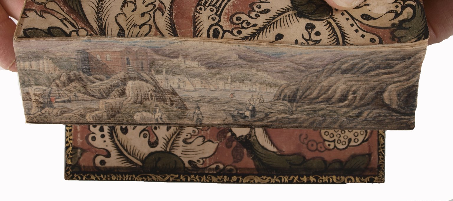 Fore-edge painting fanned open, STC 4062 copy 1.