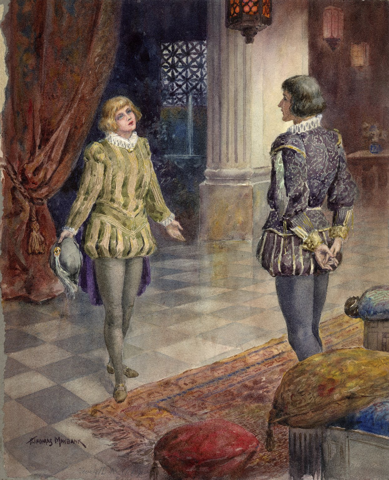 [Twelfth night, act 1, scene 4] [graphic] / H. Thomas Maybank.