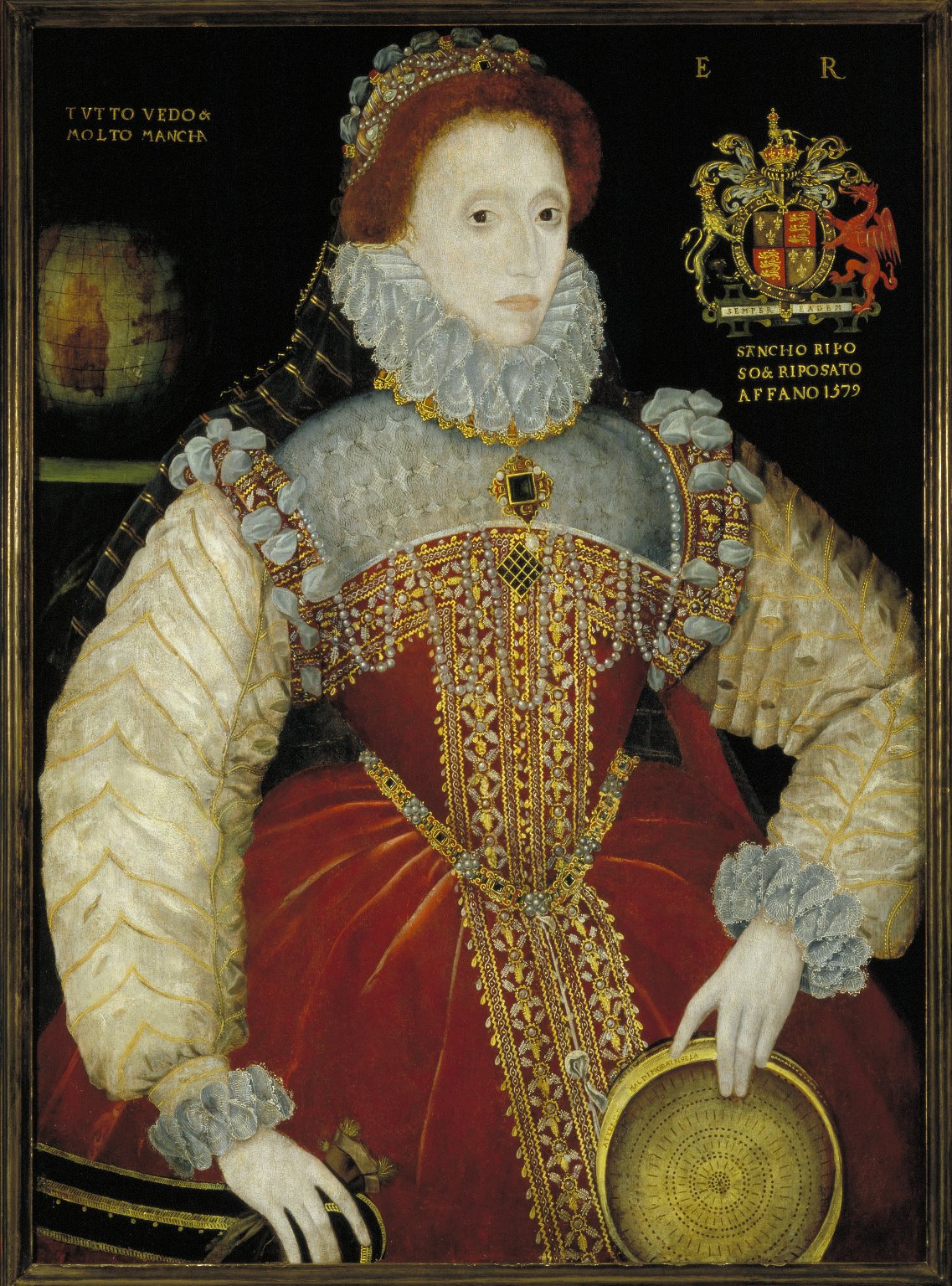 "The Plimpton ""Sieve"" portrait of Queen Elizabeth I [graphic] / [George Gower]"