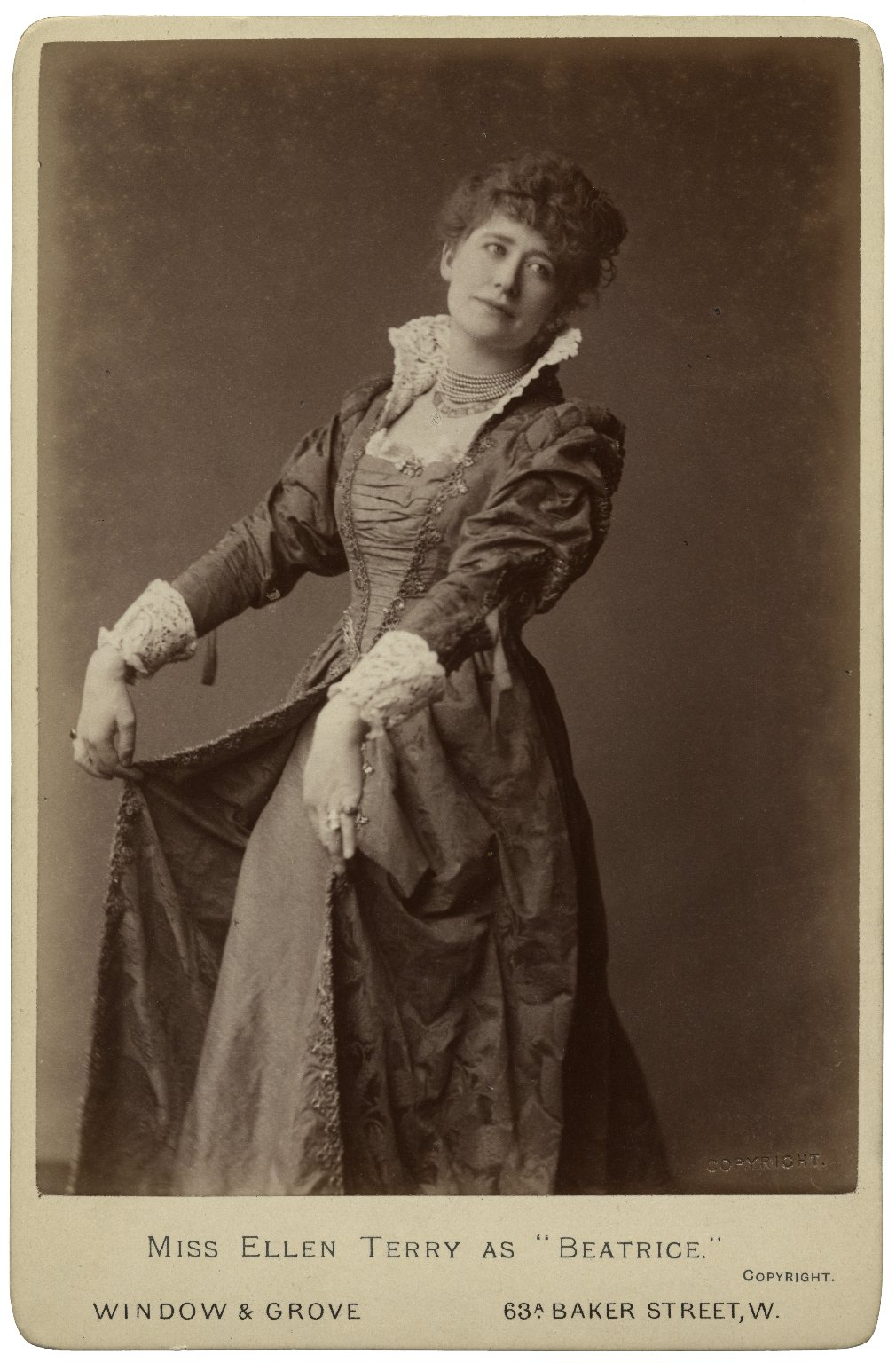 "Miss Ellen Terry as ""Beatrice"" [in Shakespeare's Much ado about nothing] [graphic]."