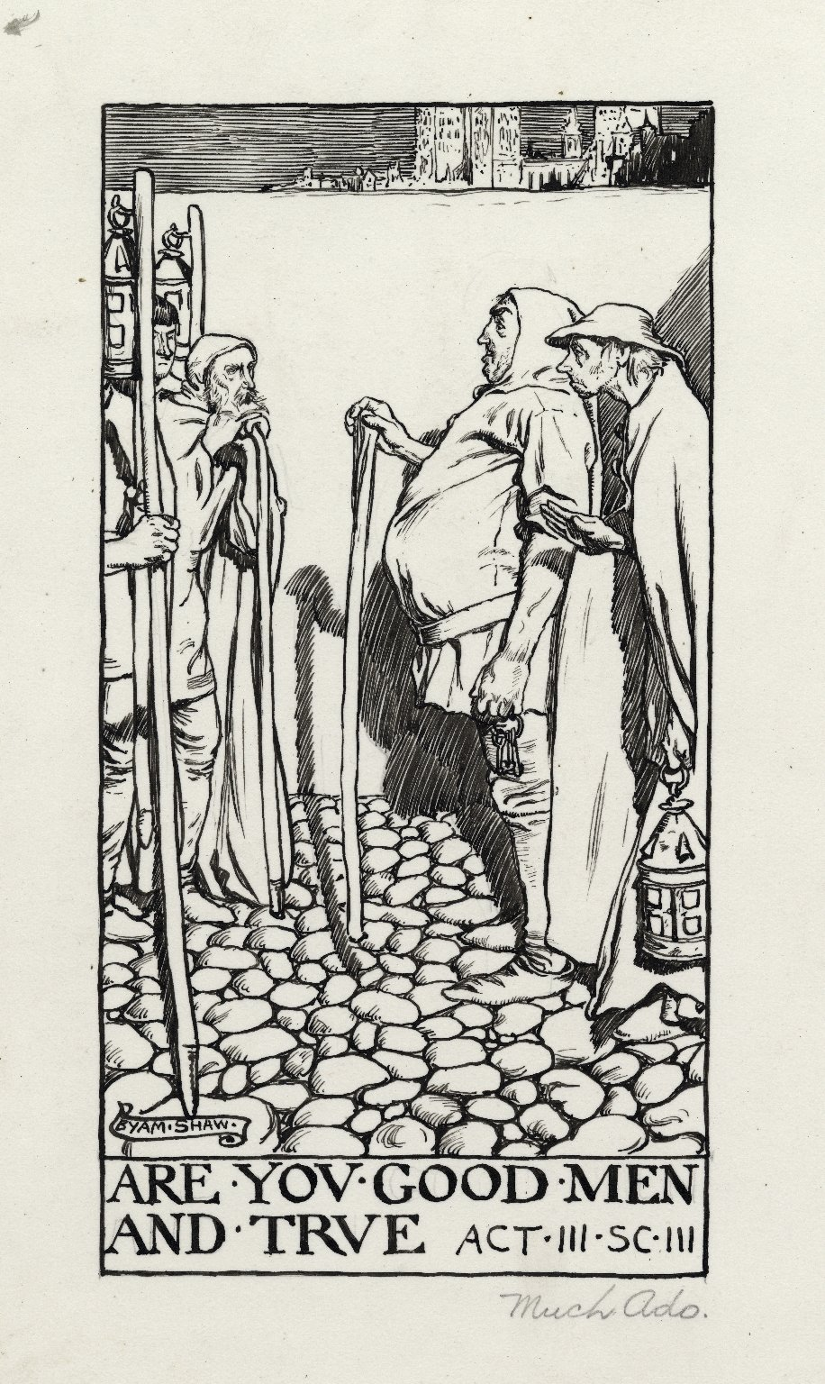 Much ado about nothing, a set of seven original drawings [graphic] / [Byam Shaw].