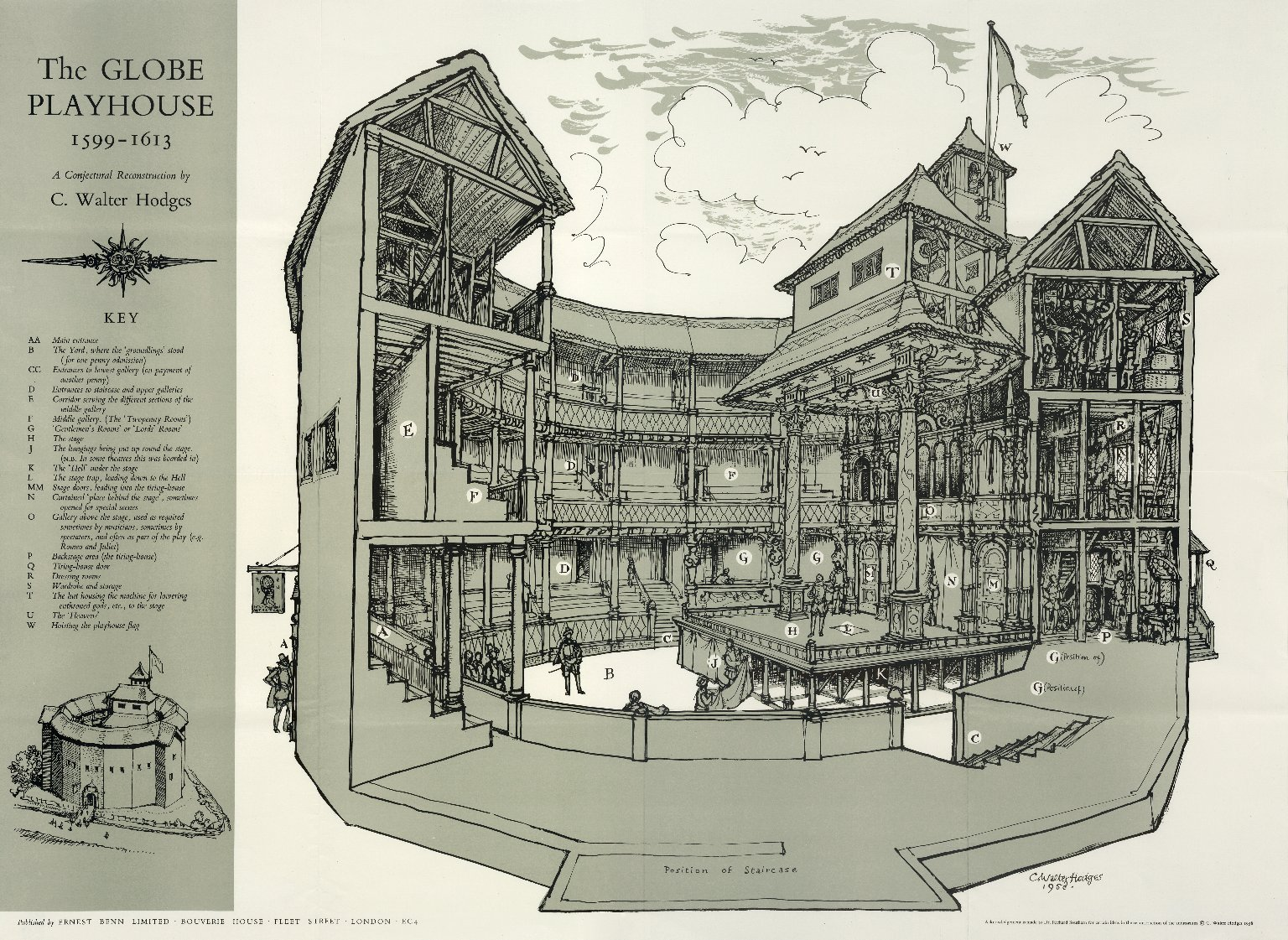 The Globe Playhouse, 1599-1613. A conjectural reconstruction…