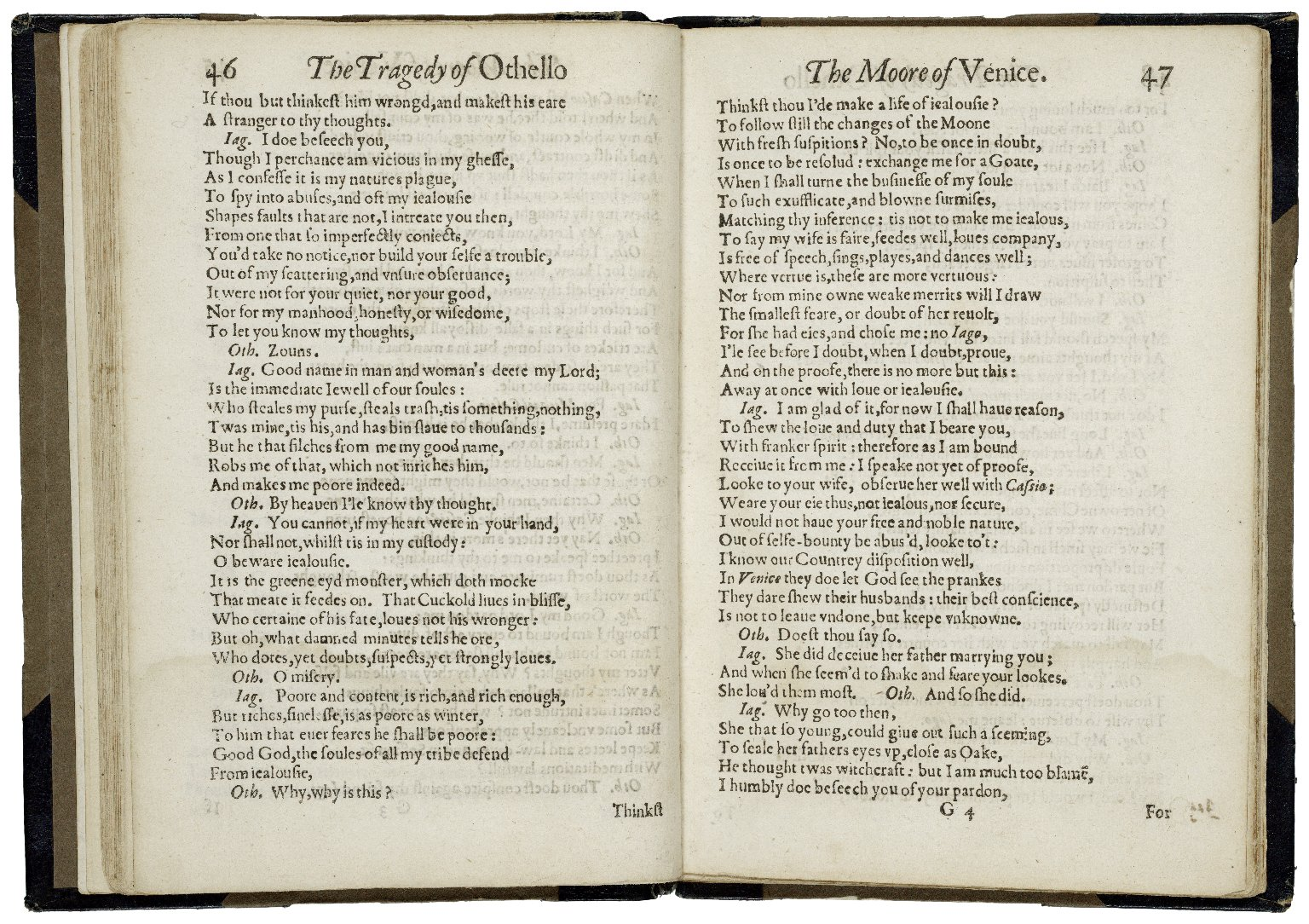 [Othello] The tragœdy of Othello, the Moore of Venice. As it hath beene diuerse times acted at the Globe, and at the Black-Friers, by his Maiesties Seruants.